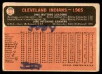 1966 Topps #303 xDOT  Indians Team Back Thumbnail