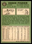 1967 Topps #434  Eddie Fisher  Back Thumbnail