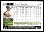 2005 Topps #75  Frank Thomas  Back Thumbnail