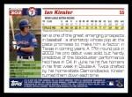 2005 Topps #302  Ian Kinsler  Back Thumbnail