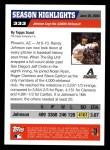 2005 Topps #333   -  Randy Johnson Season Highlights Back Thumbnail