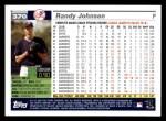 2005 Topps #370  Randy Johnson  Back Thumbnail