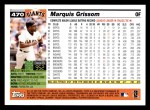 2005 Topps #470  Marquis Grissom  Back Thumbnail