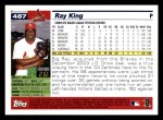 2005 Topps #487  Ray King  Back Thumbnail
