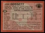 1983 Topps #285  Jeff Gossett  Back Thumbnail