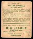 1933 Goudey #15  Vic Sorrell  Back Thumbnail