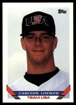 1993 Topps Traded #4 T  -  Carlton Loewer Team USA Front Thumbnail