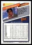 1993 Topps Traded #8 T Kirk Gibson  Back Thumbnail