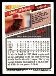 1993 Topps Traded #20 T Mark Whiten  Back Thumbnail