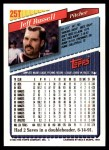 1993 Topps Traded #25 T Jeff Russell  Back Thumbnail