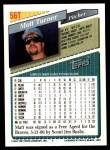1993 Topps Traded #56 T Matt Turner  Back Thumbnail