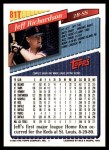 1993 Topps Traded #81 T Jeff Richardson  Back Thumbnail