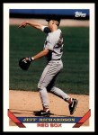1993 Topps Traded #81 T Jeff Richardson  Front Thumbnail