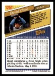 1993 Topps Traded #125 T David Cone  Back Thumbnail