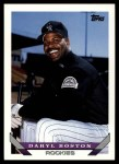 1993 Topps Traded #126 T Daryl Boston  Front Thumbnail