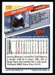 1993 Topps #350  Joe Carter  Back Thumbnail