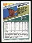 1993 Topps #516  Alex Arias  Back Thumbnail