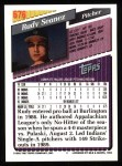 1993 Topps #676  Rudy Seanez  Back Thumbnail