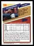 1993 Topps #708  Greg Olson  Back Thumbnail