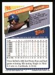1993 Topps #765  Vince Coleman  Back Thumbnail