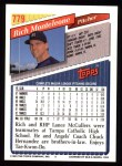 1993 Topps #779  Rich Monteleone  Back Thumbnail