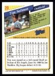 1993 Topps #20  Tim Salmon  Back Thumbnail