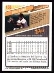 1993 Topps #108  Jose Lind  Back Thumbnail
