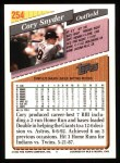 1993 Topps #254  Cory Snyder  Back Thumbnail