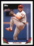 1993 Topps #291  Tommy Greene  Front Thumbnail