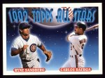 1993 Topps #402   -  Ryne Sandberg  /Carlos Baerga All-Star Front Thumbnail