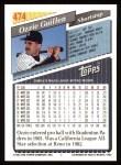 1993 Topps #474  Ozzie Guillen  Back Thumbnail