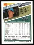 1993 Topps #586  Jeff Tabaka  Back Thumbnail