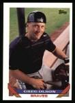 1993 Topps #708  Greg Olson  Front Thumbnail