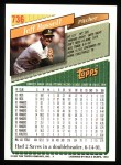 1993 Topps #736  Jeff Russell  Back Thumbnail