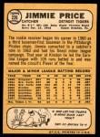1968 Topps #226  Jim Price  Back Thumbnail