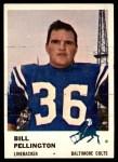 1961 Fleer #36  Bill Pellington  Front Thumbnail