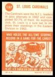 1963 Topps #157   Cardinals Team Back Thumbnail