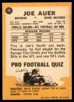 1967 Topps #79  Joe Auer  Back Thumbnail