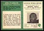 1966 Philadelphia #23  Jim Parker  Back Thumbnail