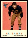 1959 Topps #138  Al Barry  Front Thumbnail