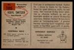 1954 Bowman #105  Veryl Switzer  Back Thumbnail