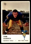 1961 Fleer #219  Tom Saidock  Front Thumbnail