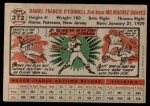 1956 Topps #272  Danny O'Connell  Back Thumbnail