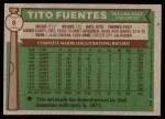 1976 Topps #8  Tito Fuentes  Back Thumbnail
