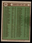1976 Topps #201   -  Tom Seaver / Randy Jones / Andy Messersmith NL ERA Leaders   Back Thumbnail