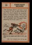 1962 Topps #25   Bears Team Back Thumbnail