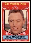1959 Topps #555   -  Bill Mazeroski All-Star Front Thumbnail