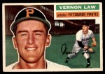 1956 Topps #252  Vern Law  Front Thumbnail