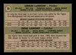 1971 Topps #39   -  Gene Lamont / Lerrin LaGrow Tigers Rookies Back Thumbnail