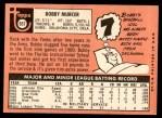 1969 Topps #657  Bobby Murcer  Back Thumbnail